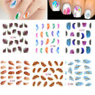 Colorful Feather Nail Art Nail Decals Water Transfer Stickers Fashion Shape Hot
