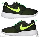 NIKE ROSHE ONE KID's GS CASUAL BLACK - GREEN - VOLT - WHITE NEW IN BOX SELECT SZ