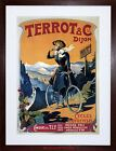 VINTAGE AD TRANSPORT TERROT CYCLES MOTOCYCLES FRANCE FRAMED PRINT F12X6527