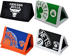 NBA: Tri Fold Canvas Wallet - New + Official NBA Bulls/Nets/Knicks/Celtics