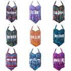 Plump Womens Multicolor Bikini Set Tassel High Waist Summer Swimsuit Swimwear