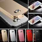New Luxury Pure Aluminum Bumper Frame Back Case Cover Skin for Samsung S6 1X