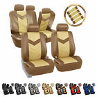 Synthetic Leather Full Set Auto Seat Covers Air Bag Safe & Split Bench Ready $36.99 USD on eBay