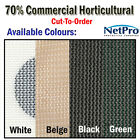 2m & 4m Shade Cloth 70% Commercial Grade Shadecloth 200gsm - Cut To Order