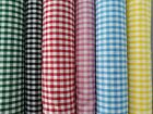 Dressmaking-Sewing-School-GINGHAM POLY COTTON FABRIC-Metres-Colours-SEWING BEE