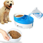 Pet Electric Water Fountain Cat Dog Automatic Food Bowl Feeder Dispenser 3 in 1