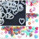 25 PEARLISED CABOCHONS 12-19mm Heart Bow Moon Star Decoden Wedding Embellishment
