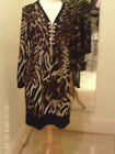 Frank Lyman Brown/Orange Leopard Design Top/Dress 53376