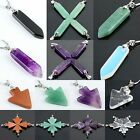 Opal Amethyst Agate Rock Quartz Gemstone Arrow Bead Pendant Jewelry Fit Necklace
