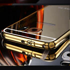 Luxury Aluminum Thin Metal Bumper Mirror Back Case Cover for Samsung S6 S6 Edge