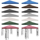 3x3m Garden Gazebo Top Cover Roof Replacement Tent Canopy Fabric 2-tier 1-tier