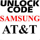 AT T ALL SAMSUNG Galaxy S S2 S3 S4 S5 S6 Note Rugby Mega 2 Code Unlock Service