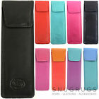 Ladies / Womens Handy Soft Leather Slim Glasses Case