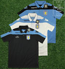 Aston Villa Macron Polo Shirt - Short Sleeved - White/Sky/Black - Mens - M-2XL
