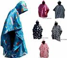BOYS GIRLS HOODED WATERPROOF FLEECE LINED RAINCOAT CAGOULES PONCHO CHANGING ROBE