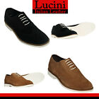 Mens New Real Suede Lace Up Casual Formal Office Work Lace Up Brogues Shoes Size