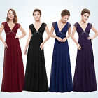 Women V-neck Lace Long Bridesmaid Evening Prom Gown Formal Party Dresses 08068