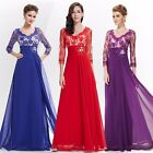Vintage Women's Long Lace Evening Party Prom Gown Formal Cocktail Dresses 09053