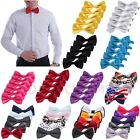 5-Pack Classic Solid Satin Mens Adjustable Tuxedo Wedding Party Bow Tie Necktie