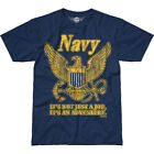 7.62 DESIGN USN RETRO BATTLESPACE T-SHIRT MILITARY PATRIOTIC MENS TOP NAVY BLUE