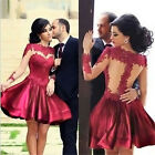 Red Women's Evening Party Ball Prom Gown Formal Bridesmaid Cocktail Dress S~XL