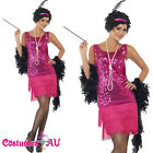 Ladies 1920s Roaring 20s Flapper Costume Charleston Gatsby Chicago Fancy Dress