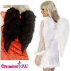 Adult Black or White Feather Large Wings Angel Halloween Costume accessories