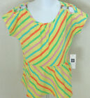 Baby GAP Girl's Yellow Striped Short Sleeve Dress-Tunic Top Size 2T