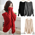 WF4 Celebrity Style Oversized Knitwear Sweater Jumper Open Front Cardigan Wrap