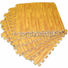 Wood Effect Interlocking EVA Foam Exercise Floor Mat Gym NonSlip Home Safety Kid
