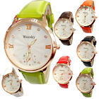 C6 US New Unisex Round Dial Quartz Watch PU Leather Fashion Casual Cheap Watch