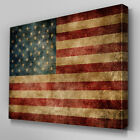 AB138 Fading American Flag USA Canvas Wall Art Ready to Hang Picture Print