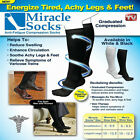 MIRACLE SOCKS Compression for Aching Feet, Varicose Veins, Flight, Travel
