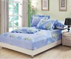 3 PIECE Cotton Fitted Sheet With 2 Pillowcases (No Flat) All Size 8 Style