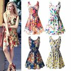 Summer Womens Love Sleeveless Sundress Beach Floral Tank Mini Dress Hot Sale NCN