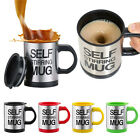 Automatic Plain Mixing Stainless Steel Coffee Tea Cup Self Stirring Mug Lazy Mug