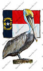 North Carolina NC State Flag Pelican Vinyl Home Office Camp Dorm Wall Art Decal