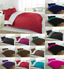 2 Tone 4pc Reversible Complete Set Duvet Cover Bed Set Fitted Sheet Pillowcases