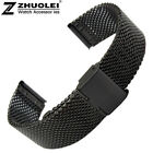 NEW Mesh Stainless Steel Watch Band 18mm 20mm 22mm 24mm black silver golden