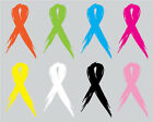 Set of 2 -  Cancer Awareness Ribbon - Window Sticker Decal-3 Sizes Available