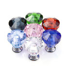 30mm Crystal Glass Door Knob Drawer Cabinet Furniture Kitchen Handle Top Quality