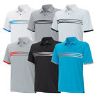 New 2015 Adidas Golf Climachill Gradient 3-Stripes Polo Cool Comfortable Fabric