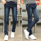 Summer Thin Style Men's Skinny Draw String Long Jean Pants Denim Trousers Bottom