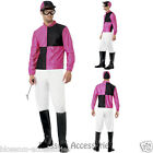 CL437 Pink Black Jockey Horse Rider Mens Uniform Fancy Dress Costume Outfit Hat