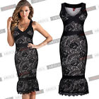 Fashion HOT Women's Sexy Sleeveless Celebrity Cocktail Midi Formal Party Dresses