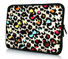 """Cute Leopard 15"""" 15.4"""" 15.6"""" Laptop Notebook Soft Case Sleeve Bag Pouch Cover"""