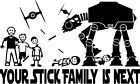 Anti Stick Family Sticker Decal Star Wars AT-AT Imperial Walker Tie Fighter $5.95 USD on eBay