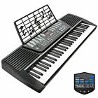 61 Key Electronic Music Electric Keyboard Piano - Black