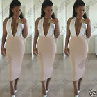 Womens Party Calf Length Bodycon Fitted High Waist Pencil Long Ladies Tube Skirt