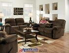 American AF310 Sharpei Chocolate 2 PC Reclining  Set: Sofa and Loveseat